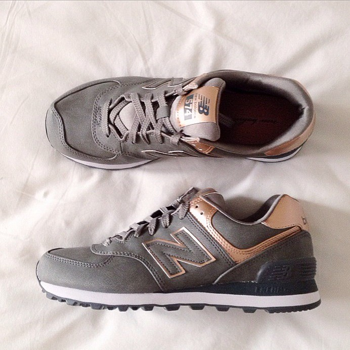 New Balance Taupe Et Rose
