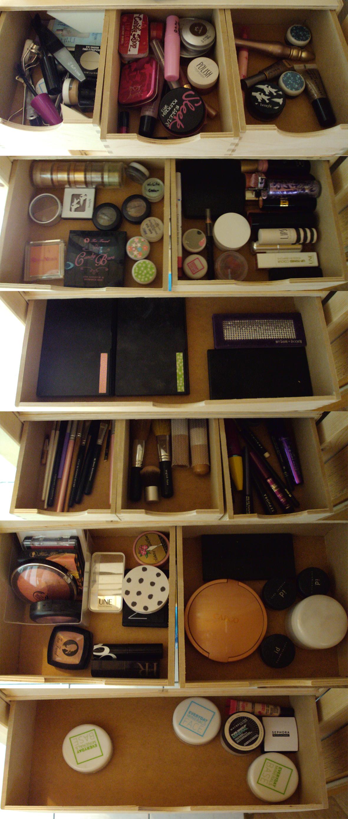 Comment je range mon maquillage mon blog de fille - Comment bien ranger une cuisine ...