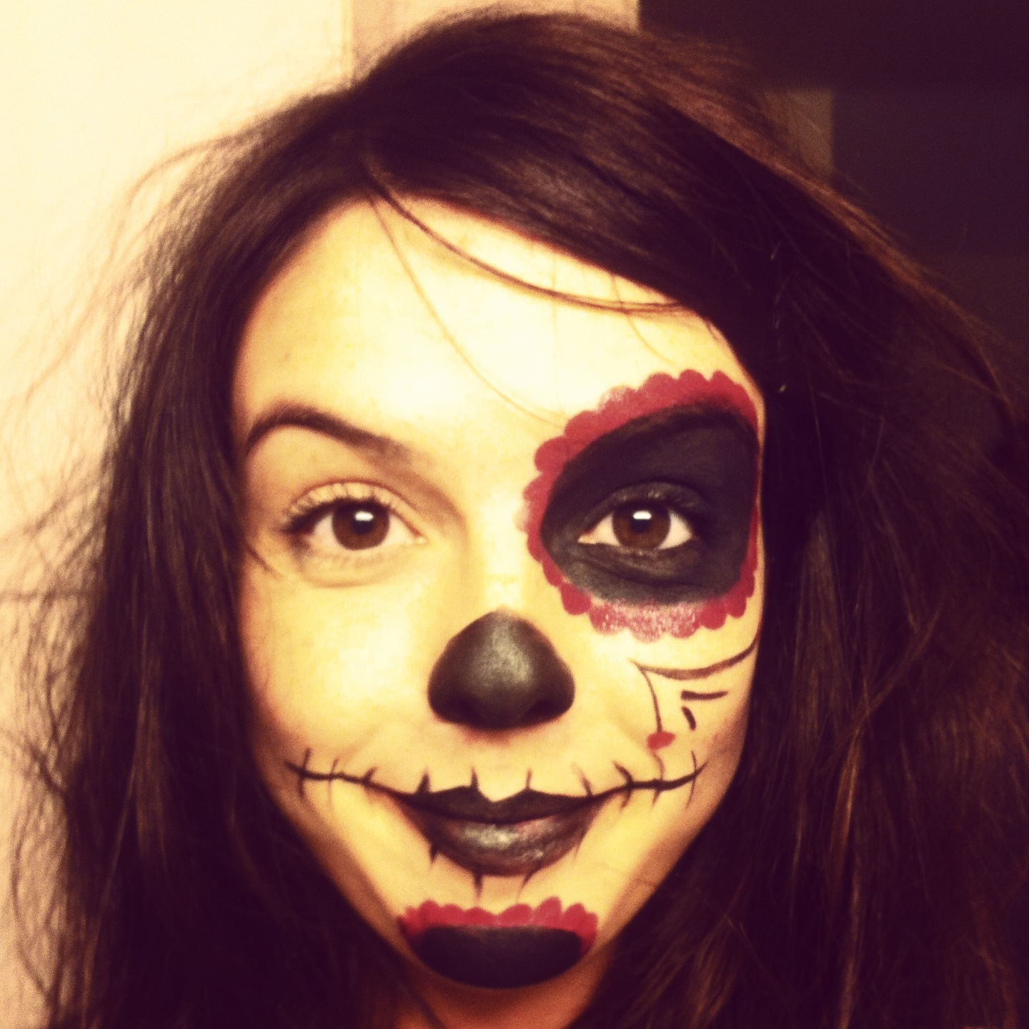 Maquillage t te de mort mexicaine facile - Maquillage mexicain facile ...
