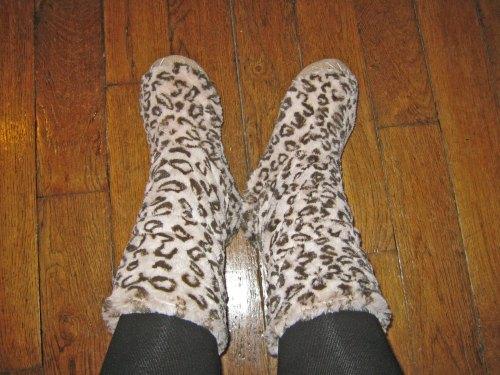 pantoufles leopard