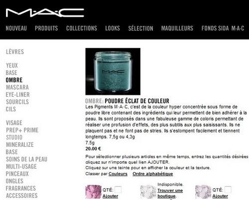 pigments mac