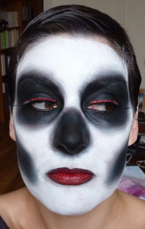 beaute Halloween, Le squelette du Moulin Rouge maquillage
