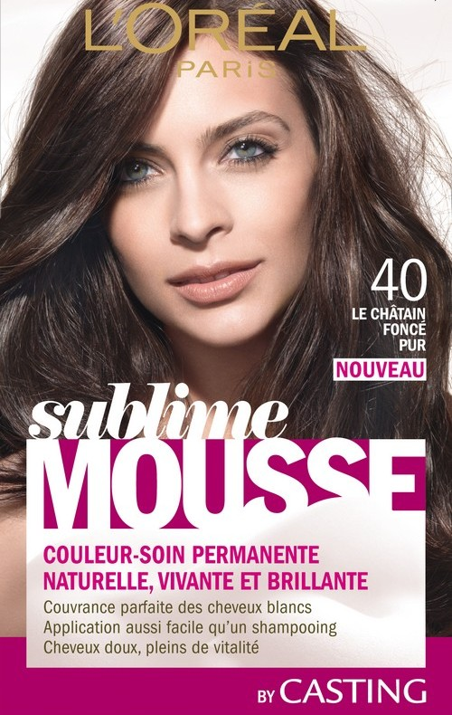 Coloration mousse blond dore