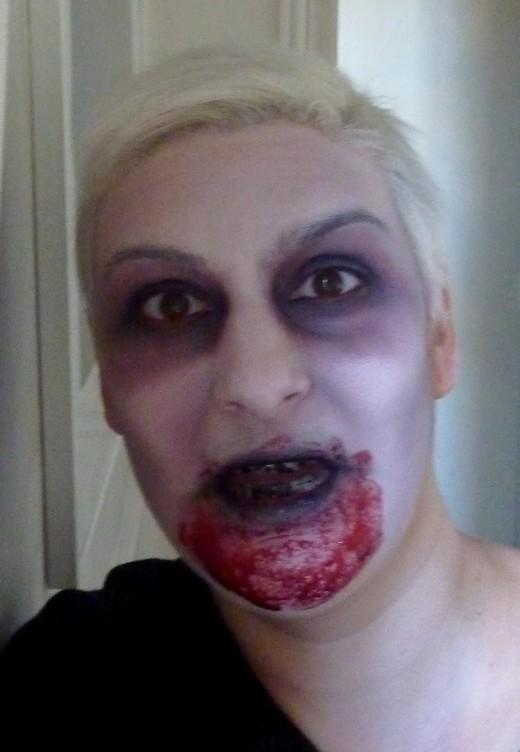 beaute Halloween : la créature de la cave maquillage