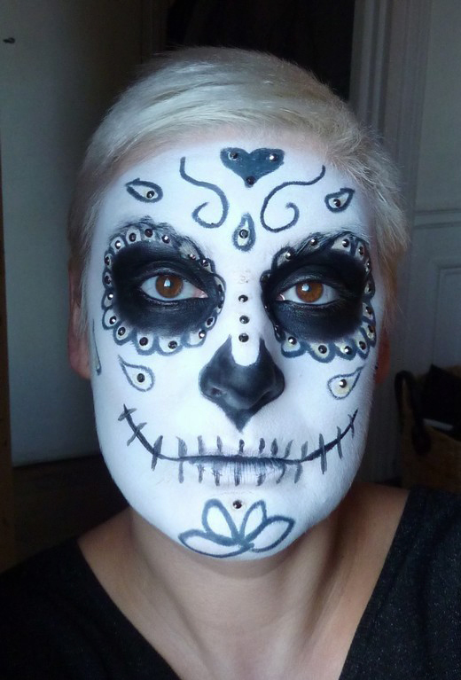beaute Halloween : Sugar Skull maquillage