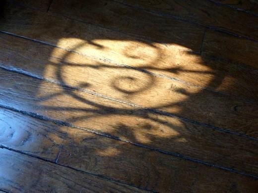 reflet soleil parquet