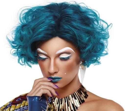 76ed52f076b9db SS12 Bluehair closeup with nails LR 520 Illamasqua Human Fundamentalism