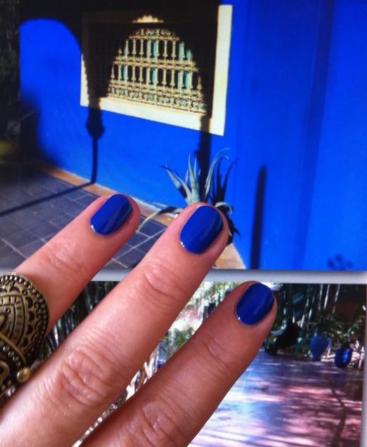 vernis bleu majorelle
