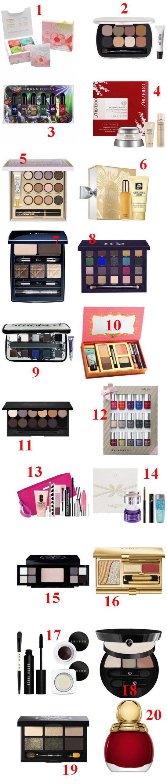 beaute Des idées de cadeaux beauté pour Noël maquillage