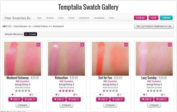 temptalia swatch gallery
