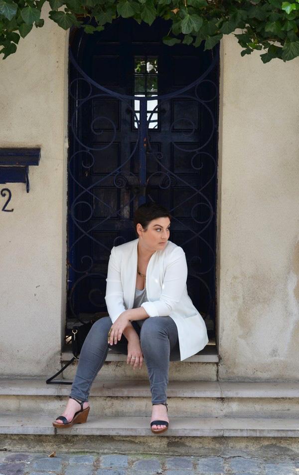blazer blanc 133