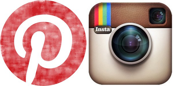 logo instagram pinterest