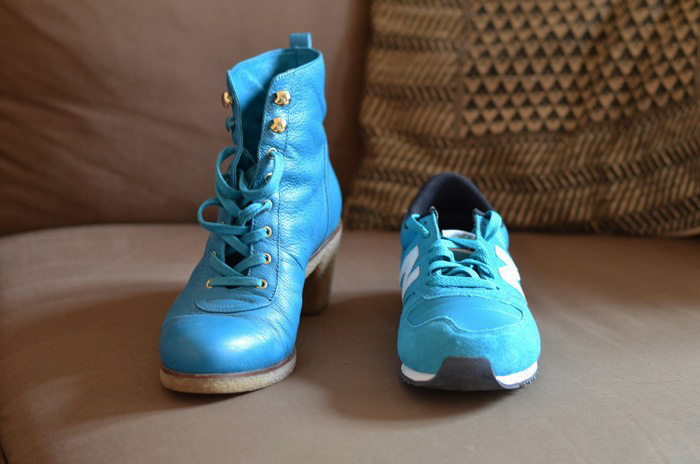 chaussures turquoise