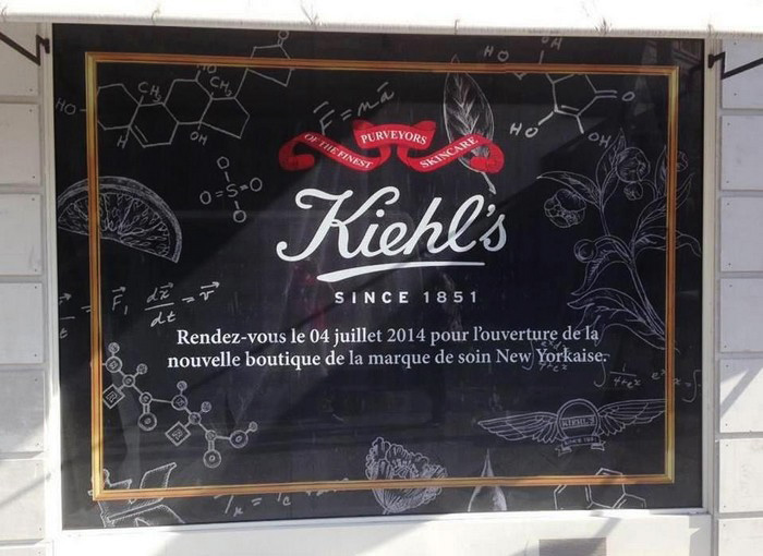 beaute Des cadeaux Kiehls rue de Sèvres à Paris maquillage
